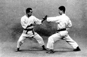 Image of early okinawan goju-ryu training