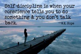 self-discipline message