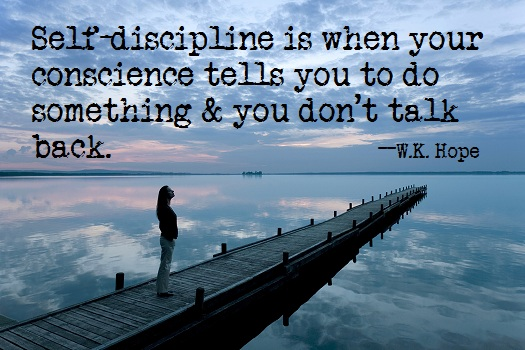 Self-Discipline is Key