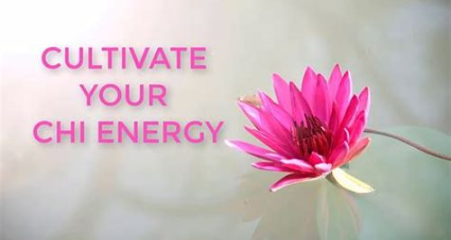cultivate your chi energy words with lotus flower picture